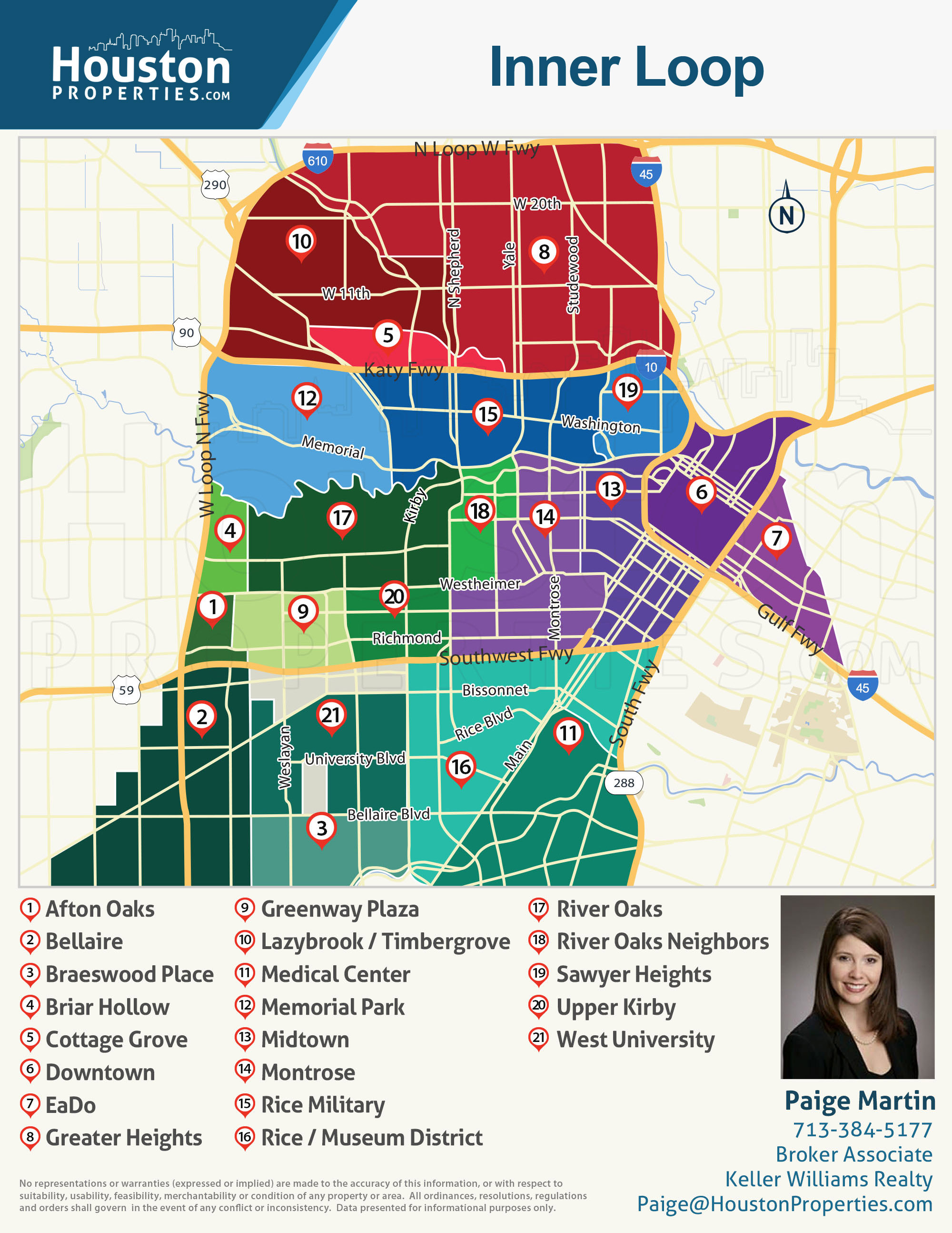 houston inner loop neighborhood map